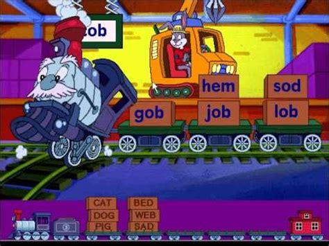 download full version kindergarten free reader rabbit s reading 1 word train game youtube