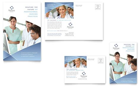 nursing school cards template nursing school hospital postcard template design
