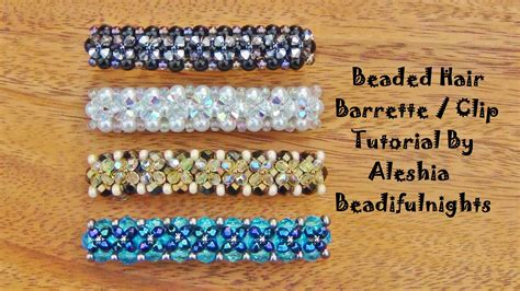 how to make hair jewelry beaded hair barrette clip tutorial