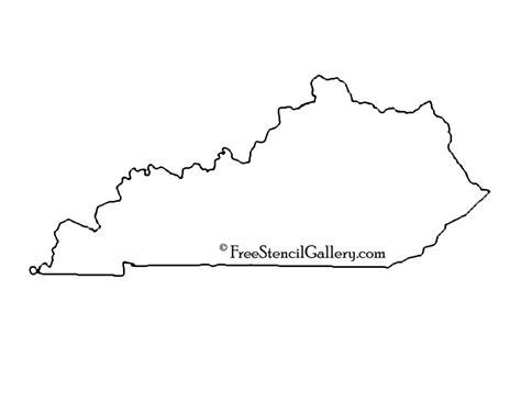 kentucky map outline kentucky stencil free stencil gallery
