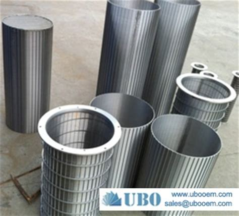 astm 316 cylinder screen strainer paper mill pressure screens wedge wire screen ubo filter equiment co ltd