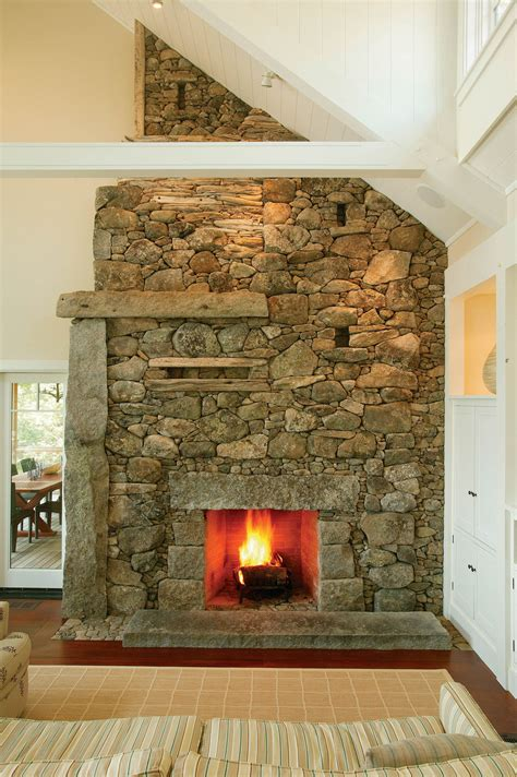 Cool Fireplace Built By Mason Lew French Fine Homebuilding Cool House Plans With Fireplace