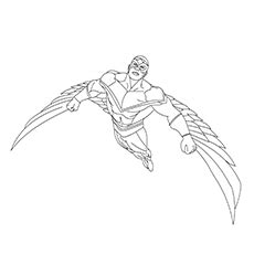 avengers coloring pages falcon the falcon super hero coloring pages