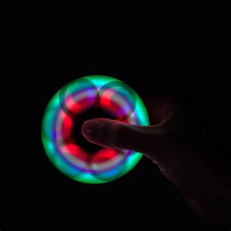 Tri Fidget Spinner Glow In The Led Toys Spinner Lu Blue xtreme led light up spinner white