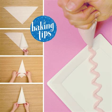 A Paper Piping Bag - no piping bag no problem cut and fold parchment paper