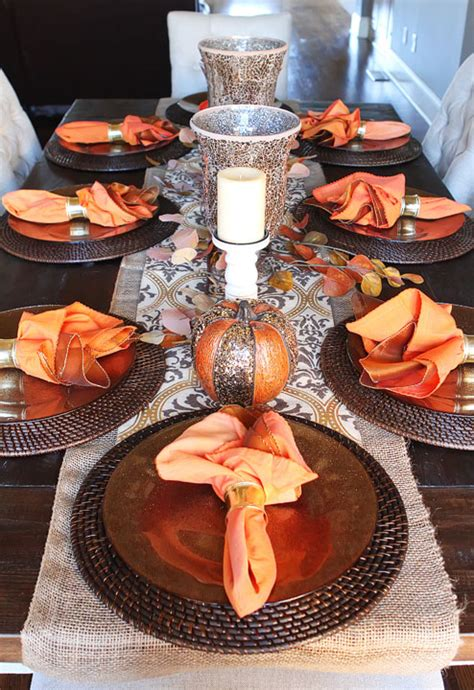 Fall Centerpieces For Dining Table Fall Dining Table Decor Inspiration 3 Kevin Amanda