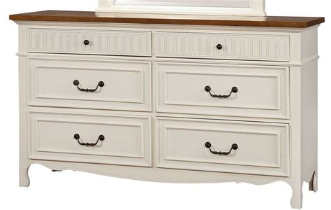 galesburg white and oak bedroom set