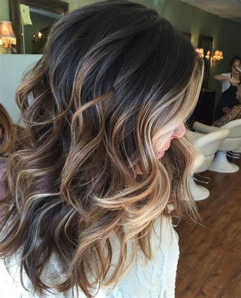 winter hair colors for brunettes perfectly blended balayage hairstyles ideas for