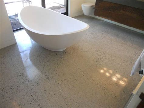 polished concrete in bathroom 22 best images about polished concrete flooring on