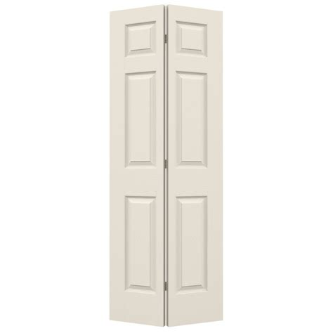 32 Bifold Closet Doors Shop Reliabilt Primed Hollow 6 Panel Bi Fold Closet Interior Door Common 32 In X 80 In