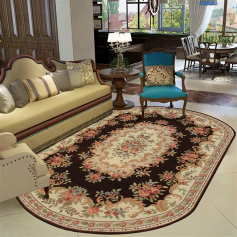 how to place a rug in a living room kingart oval shape living room carpet thick floor blanket