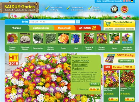Garten Pflanzen Katalog by Baldur Garten Katalog Pflanzenversand Gartenversand