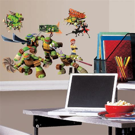 peelable wall stickers mutant turtle peel stick wall decal