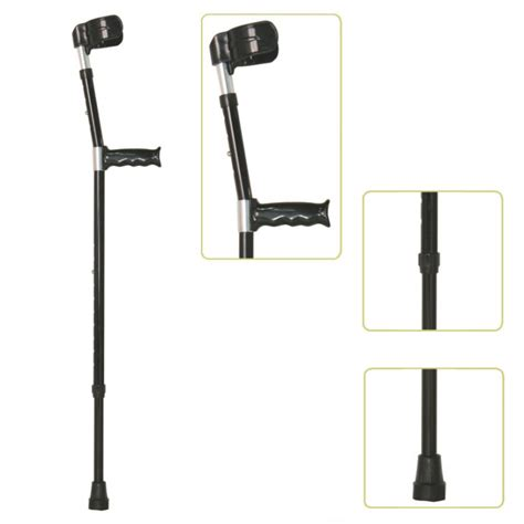 comfortable crutches walking with forearm crutches height adjustable