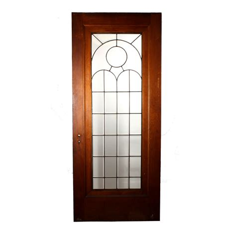 Beautiful 34 Salvaged Exterior Door With Beveled Leaded Salvaged Glass Doors