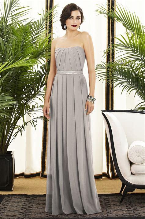 light grey formal dress long light grey bridesmaid dress wedding dresscab