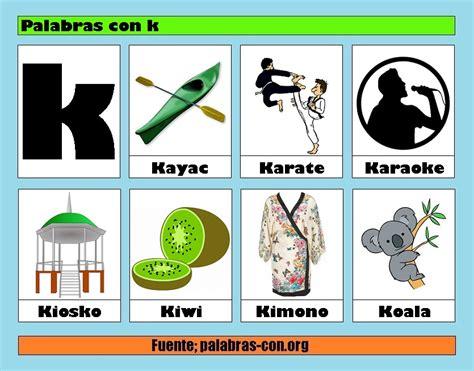 Imagenes Que Empiezan Con La Letra K | palabras con la letra k k ejemplos de palabras con k