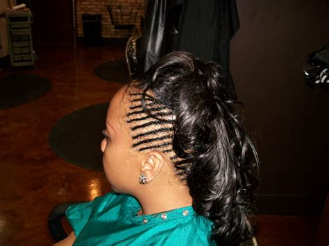 Black Braided Hairstyles With Weave by Braided Weave Mohawk Thirstyroots Black Hairstyles