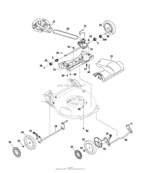 snapper mower parts diagram snapper sp70 1696606 00 675 series 21 quot self propelled