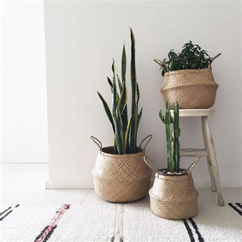 decorative baskets inspiration for using them in your bloomingville seagrass basket mand