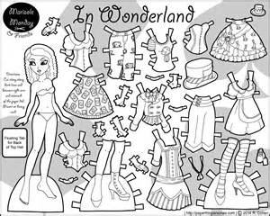 Doll template paper doll chain template christmas coloring pages