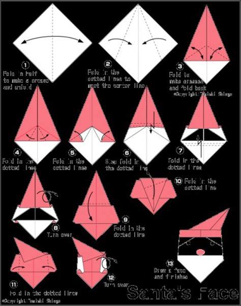 tutorial origami facili tutorial origami volto di babbo natale il blog di tici