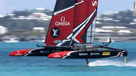 oracle hydrofoil boat america s cup team new zealand dominate usa cnn