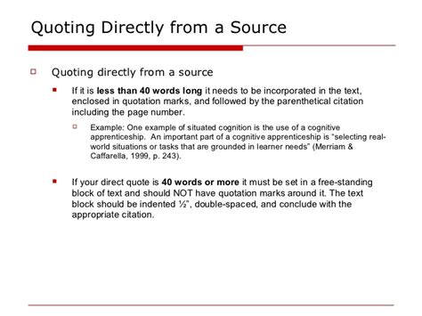 apa format quotation marks and periods apa in text citations