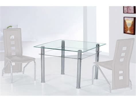 glass table dining set small square glass dining table