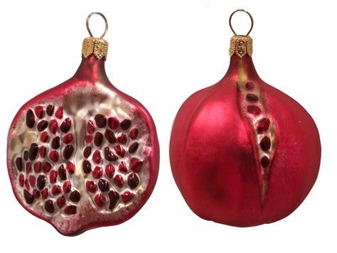 pomegranate fruit polish blown glass christmas ornament