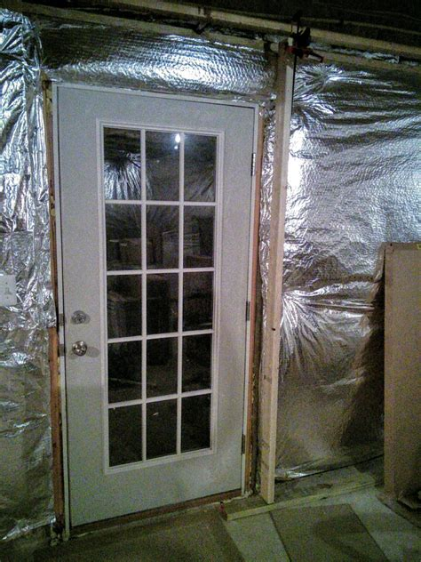 Basement Exterior Door Basement How To Frame A Wall Around Existing Exterior Door Home Improvement Stack Exchange
