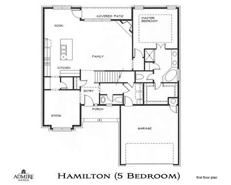 customized floor plans hamilton with 5 bedrooms admire custom homes