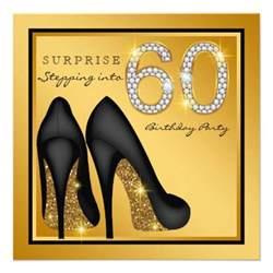 womans surprise 60th birthday party custom invite