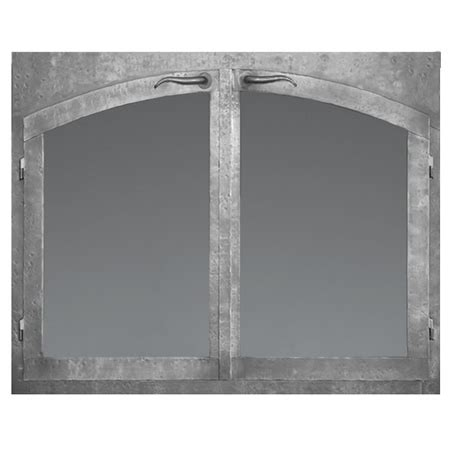 Arched Fireplace Glass Doors Forgecraft Silhouette Arch Fireplace Glass Door Woodlanddirect Fireplace Doors Forgecraft