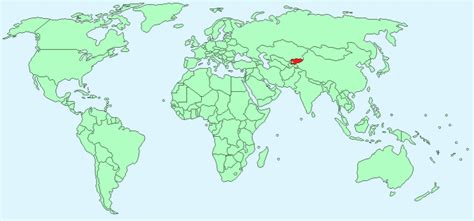 kyrgyzstan in world map kyrgyzstan facts and figures