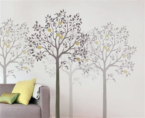 large fruit tree stencil easy reusable wall stencils for - Stencil Decorating Walls