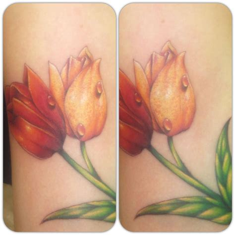 tulip tattoo tulips jess parry tattoos