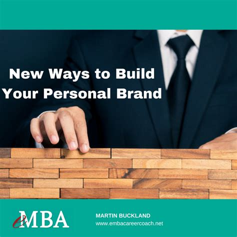 Personal Mba Coach by New Ways To Build Your Personal Brand