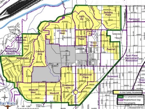 fort worth texas zoning map fort worth halts approval of single family housing permits around tcu tcu 360
