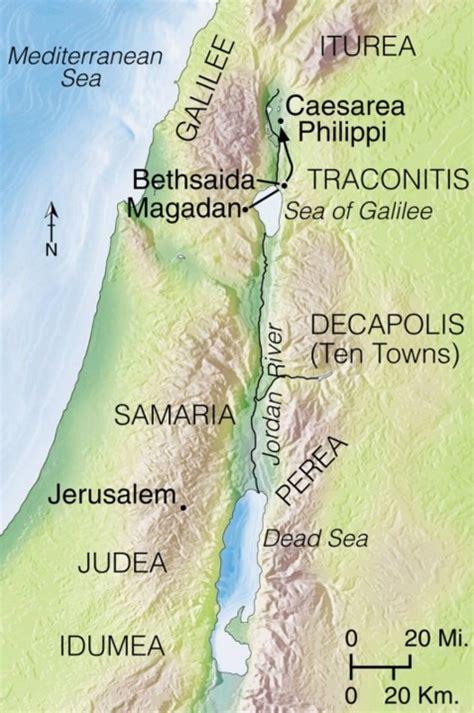 caesarea philippi map matthew 16 jesus foretells his and resurrection