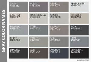 names for the color list of colors with color names graf1x