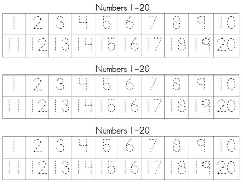 for writing numbers in papers math worksheet trace numbers learning worksheets to write