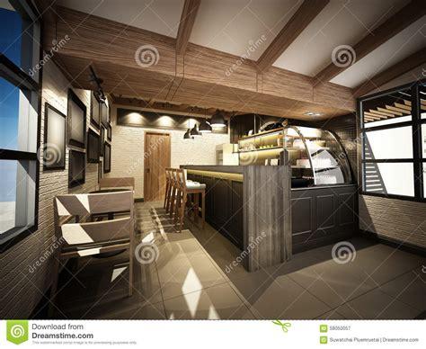 render  coffee shop dwire frame render stock image image