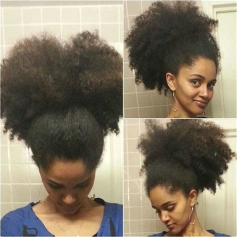 how to make a big afro ponytails short afro puff kinky curly ponytail hair extension clip