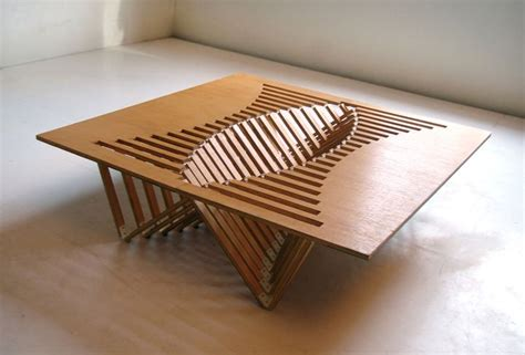 design table experimental furniture kirigami inspired rising table