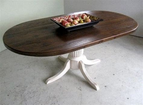 oval racetrack table with fluted pedestal farmhouse
