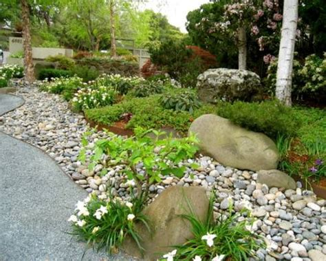 River Rock Garden Ideas The River Rock Garden Edging Ideas Interior Exterior Ideas