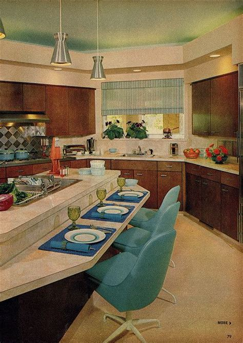 60s kitchen model kitchen in family circle magazine 1963 vintage