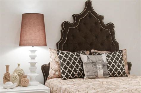 Brown Velvet Headboard by Chocolate Velvet Casablanca Bed I Roomservicestore