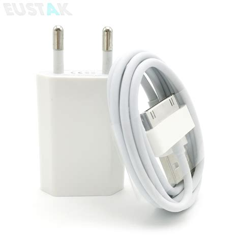 Sale Charger Iphone 4 Usb Power Adapter travel eu usb wall charger for iphone 4s 4 adapter power sync data charging cable for